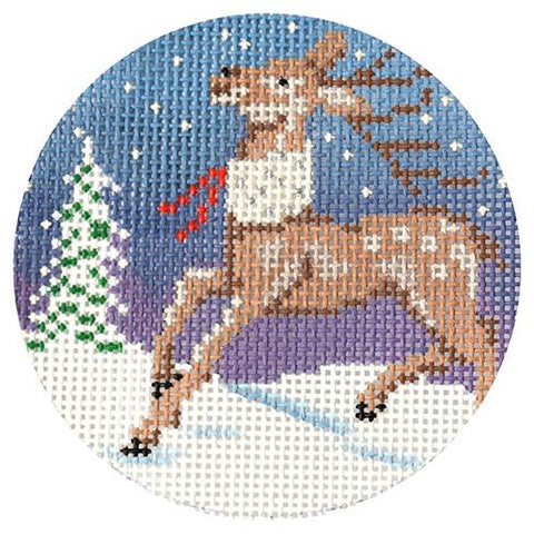 Reindeer Ornament (AP) Painted Canvas Alice Peterson Company