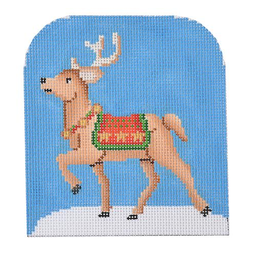 Reindeer Star Pattern Painted Canvas Burnett & Bradley