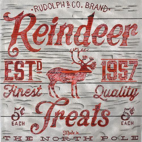 Reindeer Treats Painted Canvas Chris Lewis Distributing