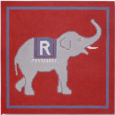 Republican Elephant Painted Canvas CBK Needlepoint Collections