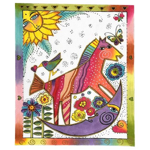 Rocking Horse Moon Painted Canvas Laurel Burch