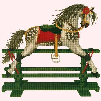 Rocking Horse Needlepoint Kit Kits Elizabeth Bradley Design Cream