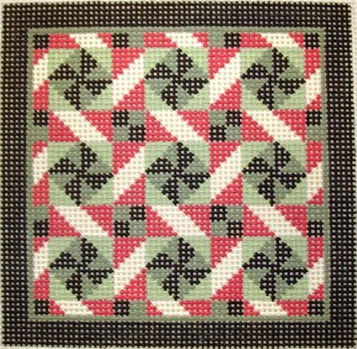Rolling Pinwheels Painted Canvas Susan Roberts Needlepoint Designs, Inc.
