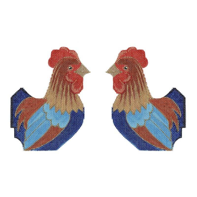 Rooster Painted Canvas Labors of Love Needlepoint