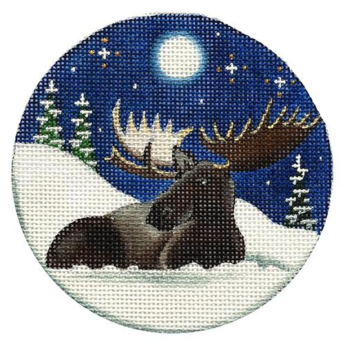 Royal Moose Painted Canvas Rebecca Wood Designs