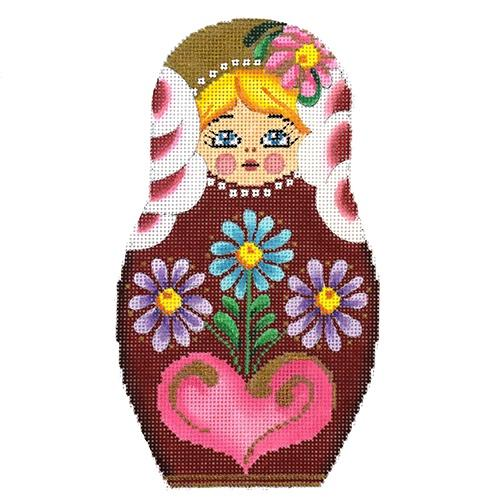 Russian Doll-Small Painted Canvas Tapestry Fair