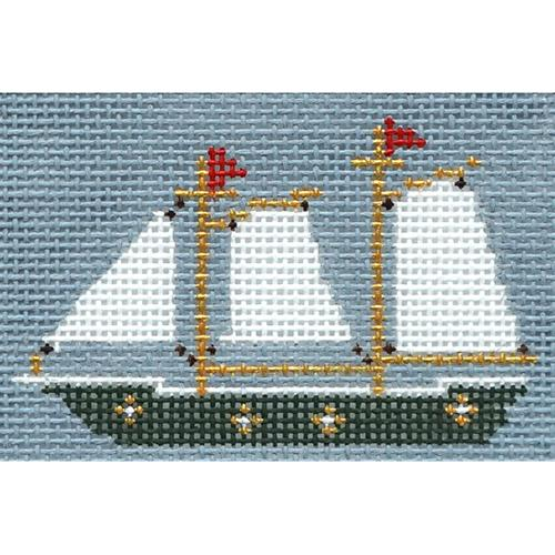 Sailboat Insert Painted Canvas The Plum Stitchery