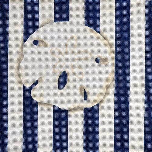 Sand Dollar Square / Stripes Painted Canvas Associated Talents