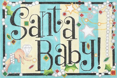 Santa Baby Painted Canvas Raymond Crawford Designs