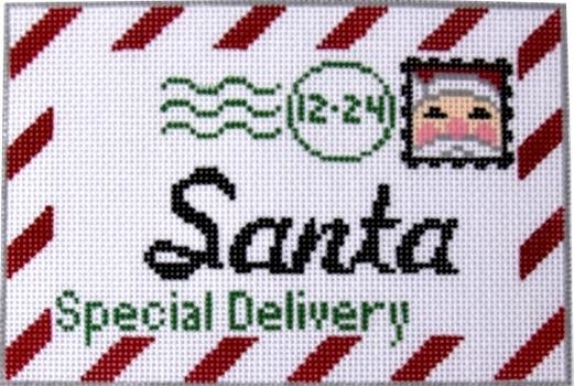 Santa Letter Mini Painted Canvas Rachel Donley