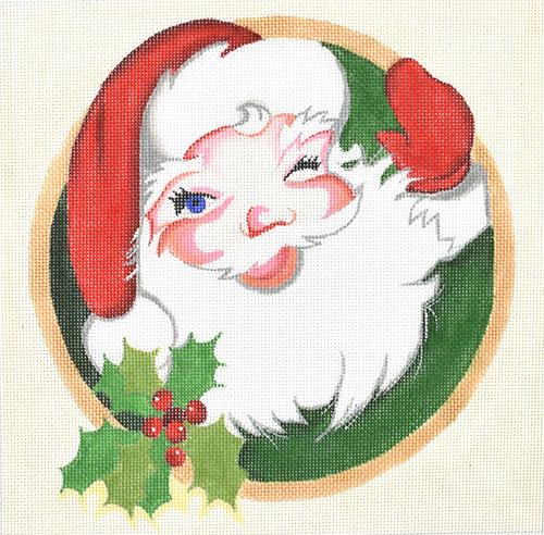 Santa Portrait Painted Canvas Raymond Crawford Designs
