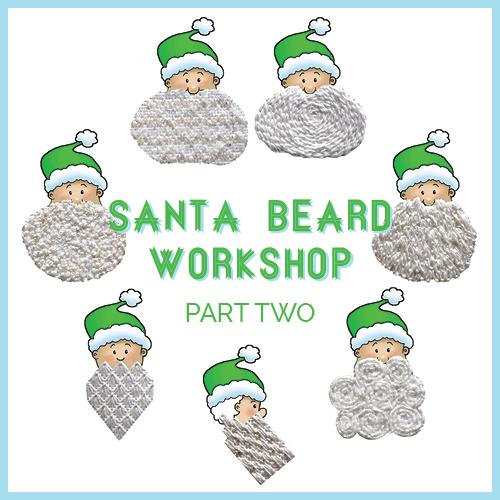 Santa's Beard and Mustache Part II Online Class Online Course Needlepoint.Com