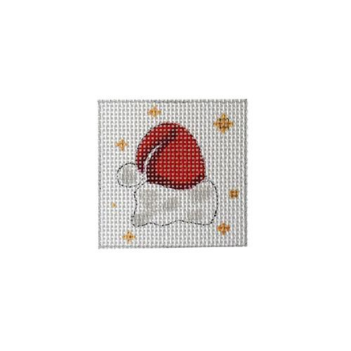 Santa's Hat with Frame Painted Canvas Patricia Sone