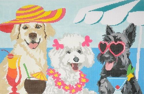 Sassy Lassies Painted Canvas CBK Needlepoint Collections