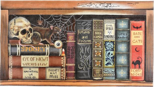 Scary Books Painted Canvas Melissa Shirley Designs