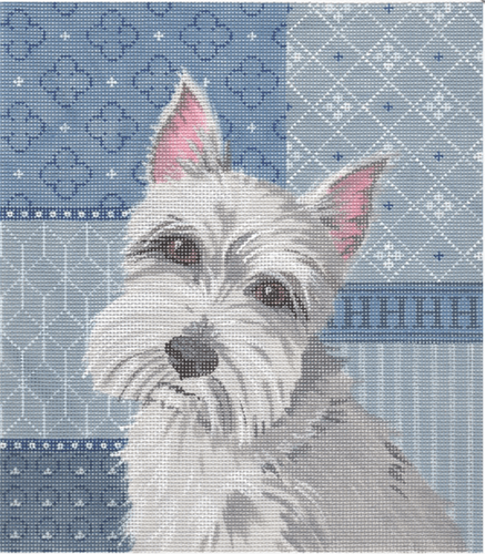 Schnauzer Painted Canvas Labors of Love Needlepoint