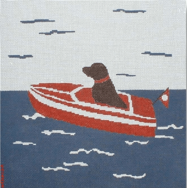 Sea Dog Painted Canvas CBK Needlepoint Collections