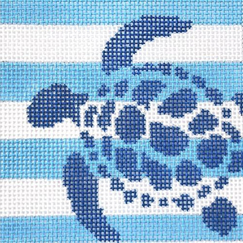 Sea Turtle Stencil Insert Painted Canvas Two Sisters Needlepoint