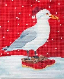 Seagull with Boots Painted Canvas Scott Church Creative