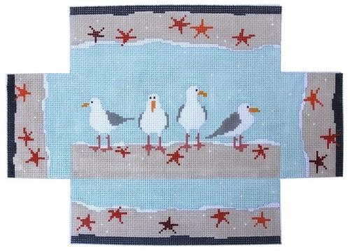 Seagulls Doorstop Painted Canvas Pippin