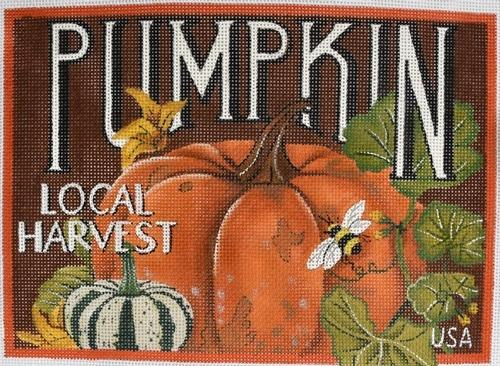 Seed Labels - Pumpkin Painted Canvas Mary Lake Thompson
