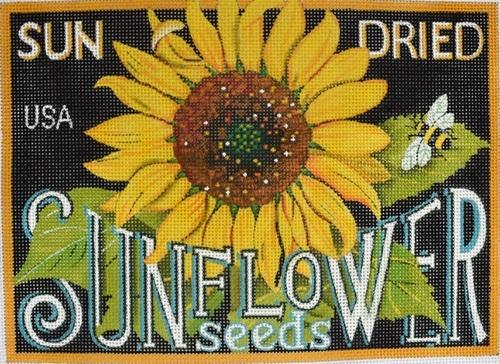 Seed Labels - Sunflower Seeds Painted Canvas Mary Lake Thompson
