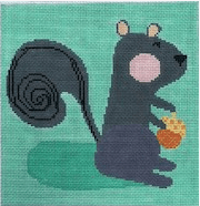 Serge Squirrel Painted Canvas Birds of a Feather