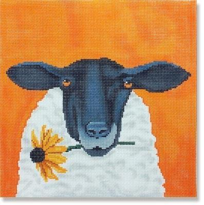 Sheep with Daisy with Stitch Guide Painted Canvas Scott Church Creative