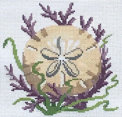 Shells, Sand Dollar Painted Canvas Susan Roberts Needlepoint Designs, Inc.