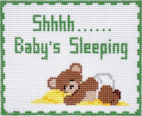 Shhhh... Baby's Sleeping Painted Canvas Susan Roberts Needlepoint Designs Inc.