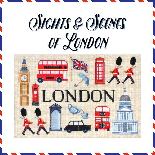 Sights and Scenes of London Online Course Needlepoint.Com
