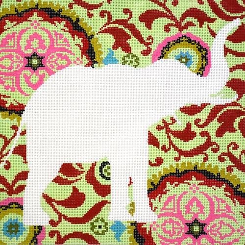 Silhouette Elephant Painted Canvas The Meredith Collection