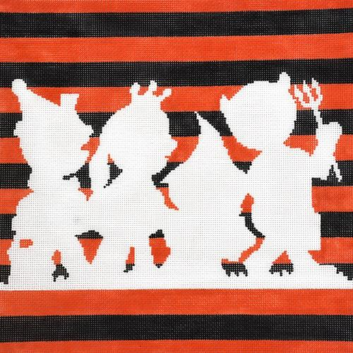 Silhouette Little Monsters Painted Canvas The Meredith Collection