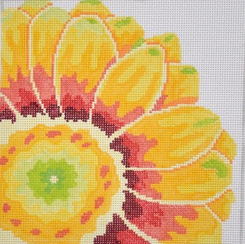Small Flame Flower Painted Canvas Jean Smith