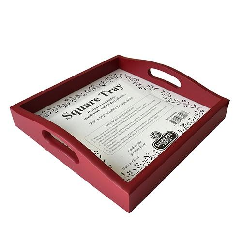 Small Square Tray - Red Makeables Sudberry House