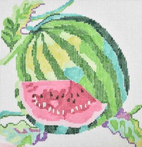Small Watermelon Painted Canvas Jean Smith