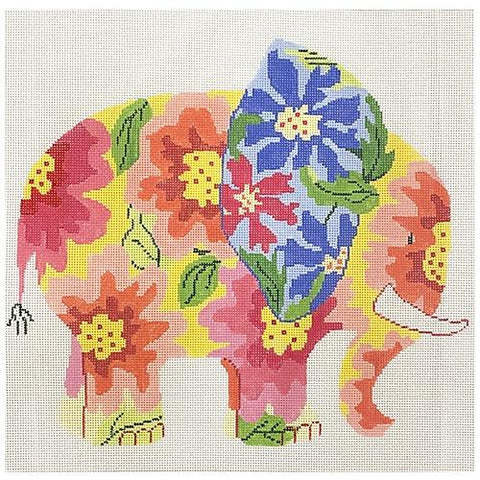 Snazzy Elephant Painted Canvas Jean Smith