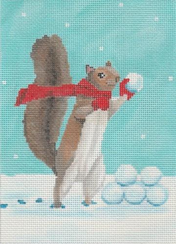 Snowball Fight Painted Canvas Scott Church Creative