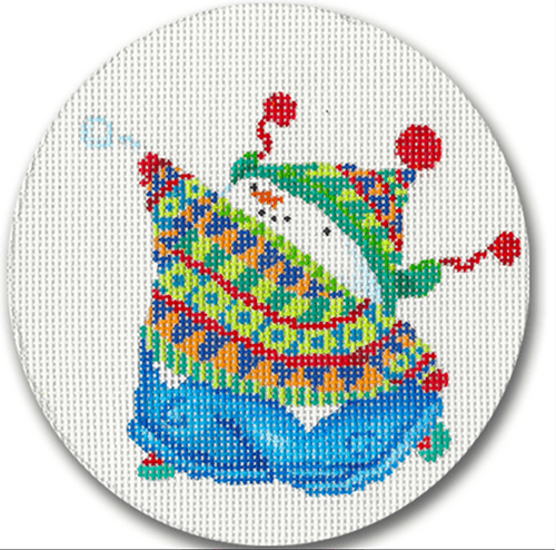 Snowboy Ornament Painted Canvas CBK Needlepoint Collections