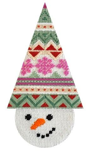 Snowcone Fair Isle with Stitch Guide Painted Canvas Needlepoint.Com