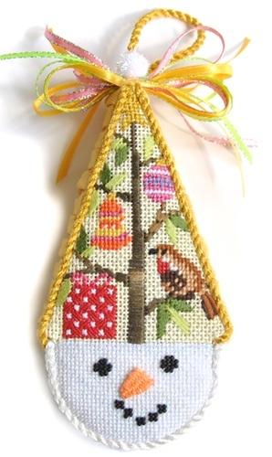 Snowcone Gift Tree with Stitch Guide Painted Canvas Needlepoint.Com