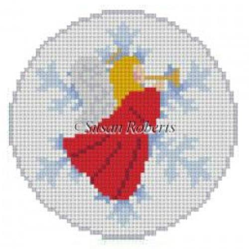 Snowflake Angel Ornament Painted Canvas Susan Roberts Needlepoint Designs, Inc.