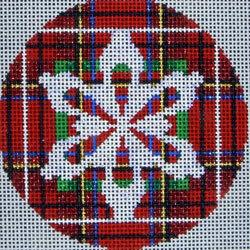 Snowflake on Stewart Plaid Painted Canvas Associated Talents