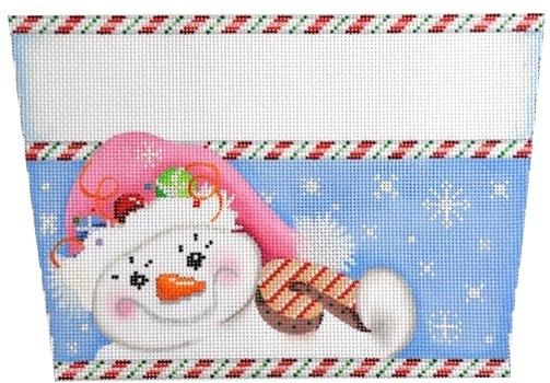Snowlady / Pink Hat Stocking Cuff Painted Canvas Associated Talents