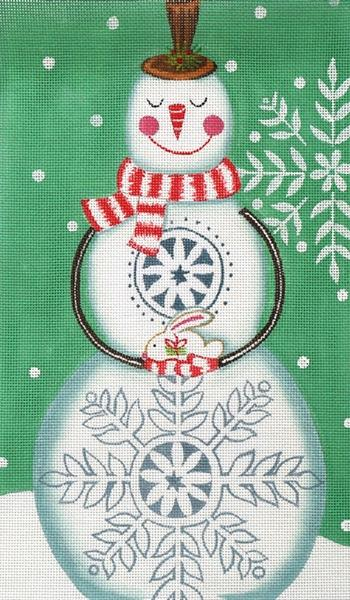 Snowman & Bunny Painted Canvas Ewe & Eye