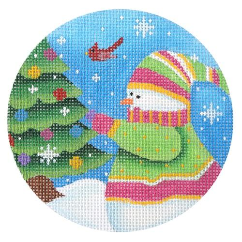 Snowman of the Month - December Painted Canvas Pepperberry Designs
