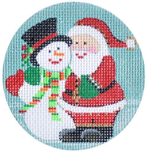 Snowman & Santa Painted Canvas Alice Peterson