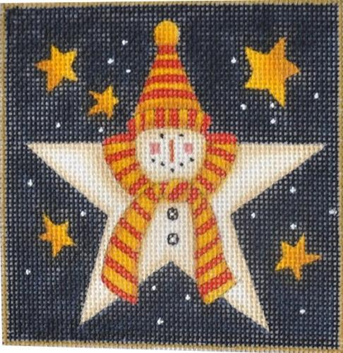 Snowman Star Painted Canvas Maggie Co.