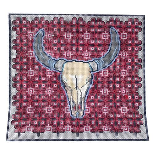 Southwestern Longhorn Painted Canvas Thorn Alexander