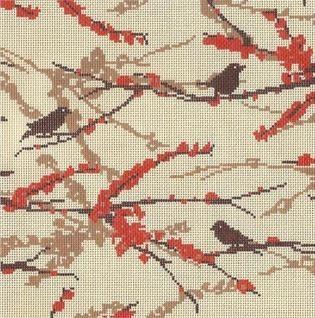 Sparrows - Bark Painted Canvas Cooper Oaks Design